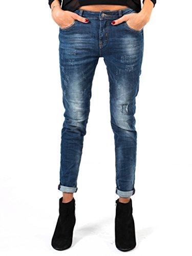 Lücke Khaki-hose (BIANCO JEANS Damen Hose Denim - Relaxed geschnittene Jeans im Used-Look - 36)