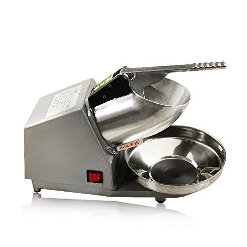 HaroldDol Elektrische Eiscrusher Shaver Schnee-Kegel-Maschine Edelstahl Ice Crusher Eiswürfel Zerkleiner 2200r/min für Heim- und kommerziellen Einsatz 380W