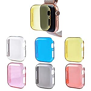 Screen Protector Watch Schutzhülle,All-Around Transparent Hart PC Schale Schutzhülle 40MM / 44MM 6 Für Apple Watch,IWatch S4,Serie 4