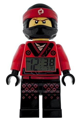 LEGO NINJAGO MOVIE Kai Kids Minifigure Light Up Alarm Clock | red/black | plastic | 9.5 inches tall | LCD display | boy girl | official