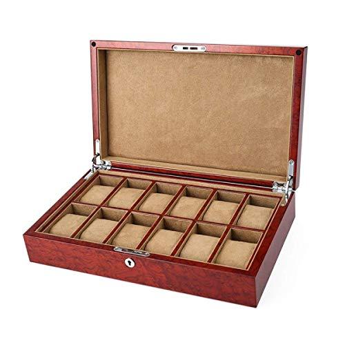 ZLMMY Sammlung Speicher Andenken Mementos Schmuck Holz Geschenkbox Brust - Vintage Brown -