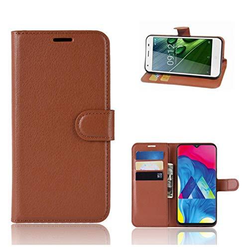 Ronsem Xiaomi Mi8 Youth / Mi8 Lite Hülle PU Leder Wallet Schutzhülle mit Kartenschlitz Flip Handyhülle für Xiaomi Mi8 Youth / Mi8 Lite - Braun