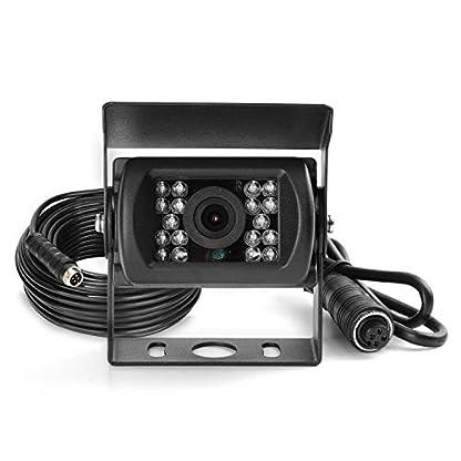 MiCarBa-7-Zoll-Auto-Quad-Video-Eingang-LCD-Auto-Monitor-Auto-Umbausatz-fr-CCTV-Sicherheitsberwachung-Auto-Kopfsttze-Rckfahrkamera-Monitor-AV-Eingang