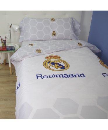 10XDIEZ Funda NÓRDICA Real Madrid - Medidas Cama - Cama de 90cm