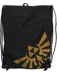 Nintendo - Leyenda de Zelda - bolsa de deporte con logotipo del oro, color negro