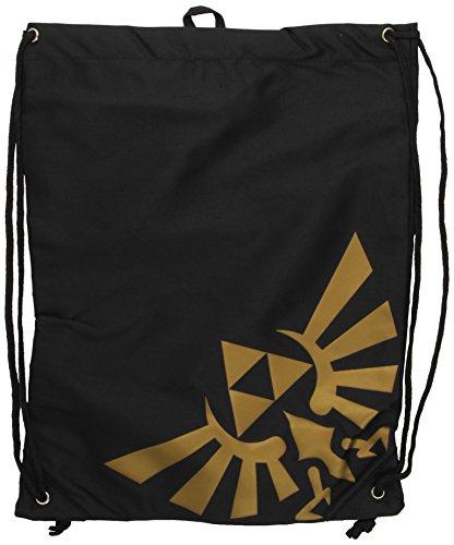 Nintendo Turnbeutel - Golden Zelda Logo - schwarz [Edizione: Germania]