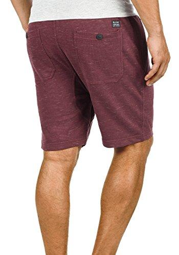 BLEND Timessy Herren Sweat-Shorts kurze Hose Sport-Shorts aus hochwertiger Baumwollmischung Meliert Wine Red (73812)