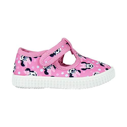 Cerdá Mädchen Zapatilla Loneta Baja Minnie Hohe Sneaker, (Rosa C07), 21 ()