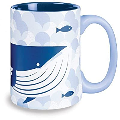 Kitsch'n Glam 16 Oz Mug Whale, Blue