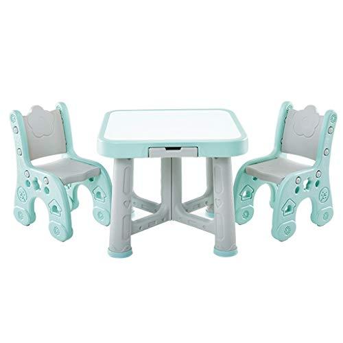GYM Kinder Studie Tisch Spielzeug Lernen Schreibtisch Tisch und Zwei Stuhl Sets Hause kinderzimmer spieltisch kann 250 kg Gewicht standhalten (Color :...