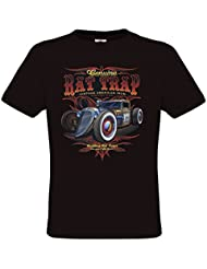 Ethno Designs - Rat Trap - Hot Rod T-Shirt pour Hommes - Old School Rockabilly Vintage Shirt Retro Style - regular fit