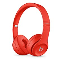 Beats Solo3 Wireless On-Ear Headphones - Apple W1 Headphone Chip, Class 1 Bluetooth, 40 Hours Of Listening Time - Red (Latest Model)