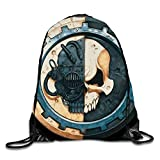 ARTOPB Adeptus Mechanicus Symbol Drawstring Backpack Rucksack Shoulder Bags