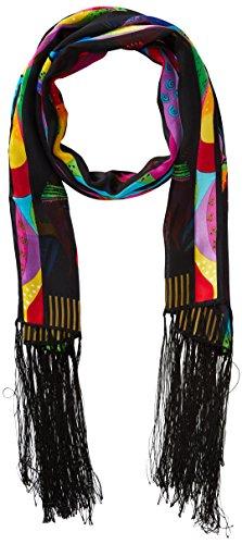 laurel-burch-scarves-rainbow-horses-w-fringe