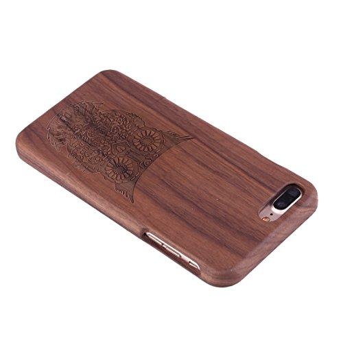 iPhone Case Cover Pour iPhone 7 Plus Séparable Découpage motif arbre Walnut Coque arrière de protection ( SKU : Ip7p1448f ) Ip7p1448b