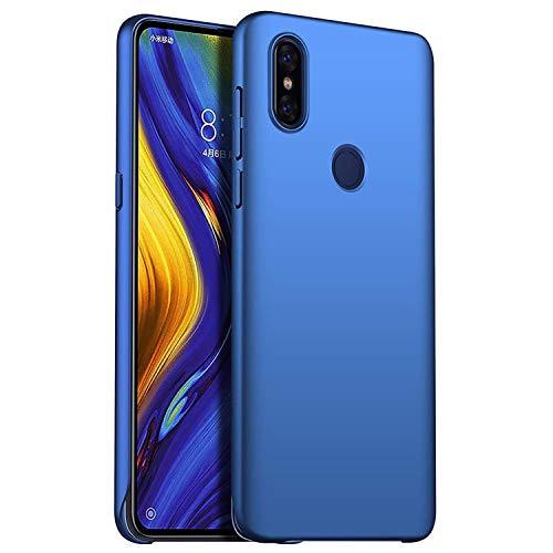 AOBOK Funda Xiaomi Mi Mix 3, Ultra Slim Anti-Rasguño y Resistente Huellas Dactilares Totalmente Protectora Caso Duro Carcasa Case para Xiaomi Mi Mix 3 Smartphone, Azul Oscuro