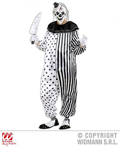 Killer Clown Kostüm INKLUSIVE Maske - SET, Größe:XL
