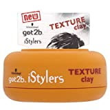 Schwarzkopf got2b iStylers Texture Clay 75ml (Pack of 2) by GOT 2B