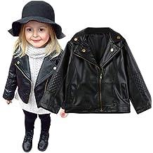 12Monate-4Jahre Bekleidung Longra Baby Kinder M/ädchen Mode Leder Jacken Rei/ßverschluss Kapuze M/äntel Outwear Winterjacken M/äntel