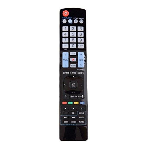 Control remoto de repuesto universal de plástico negro Sin programación requerida para LG LCD LED TV HD 3D Smart TV