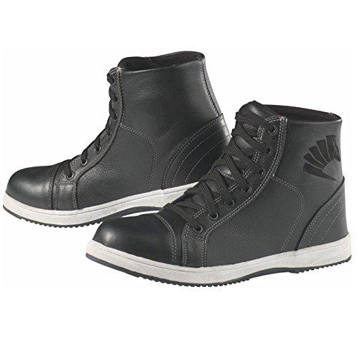 Germot FASHION Herren Motorradstiefel Sneaker Leder - schwarz Größe 42
