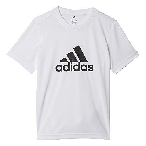 Adidas yb gu tee, t-shirt per ragazzo, bianco (blanco/negro), 13-14 anni