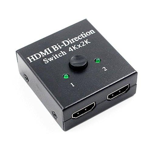 SODIAL 2x1 1x2 UHD 4K Bi Richtung HDMI 2.0 Schalter Umschalter Splitter Hub HDCP 3D