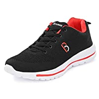 Bourge Men's Loire-9 Black Running Shoes- 8 UK/India (42 EU) (Loire-9-Black-08)