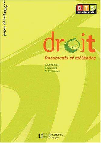 Droit BTS 1ère année. Documents et méthodes