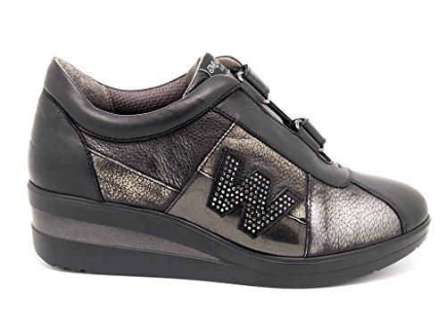 Melluso R0804 Sneakers Donna Nappa Nero Nero 37