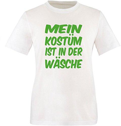 Luckja Mein Kostüm ist in der Wäsche Herren Rundhals T-Shirt Weiß/Grün