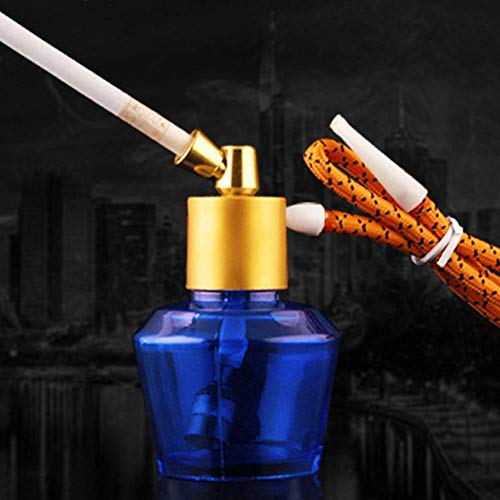 Mkxiaowei Transparente Shisha Wasserpfeife Filter Zigarettenspitze Zirkulation reinige Dual-Use-Shisha-Rauchen