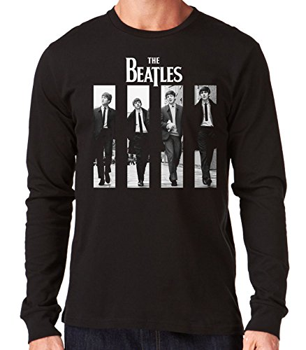 35mm - Camiseta Hombre Manga Larga - The Beatles - Liverpool - Long Sleeve Man Shirt, NEGRA, M