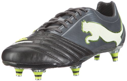 Puma  PowerCat 1.12 SG, chaussures de sport - football homme Noir - Schwarz (black-dark shadow-white-lime punch 02)