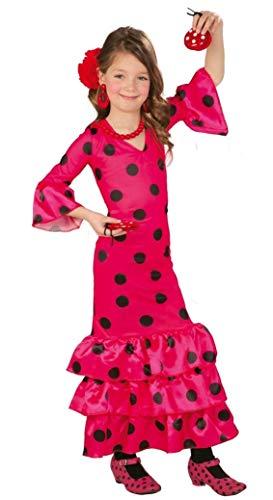 Fancy Me Mädchen Rosa Flamenco Spanisch Tänzer gepunktet Kostüm Kleid Outfit 3-12 Jahre - Rosa, 7-9 - Spanischer Tänzer Kinder Kostüm