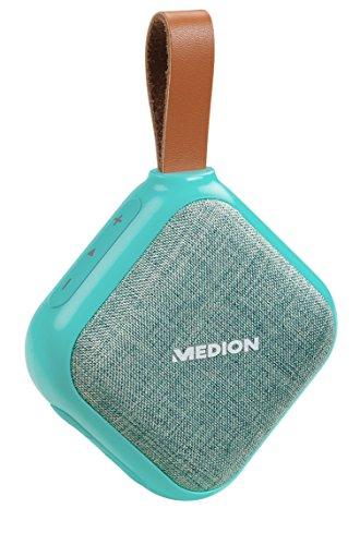 MEDION E65242 Bluetooth Lautsprecher (Bluetooth 4.1, Freisprechfunktion, Strahlwasserschutz IPX5, 30...
