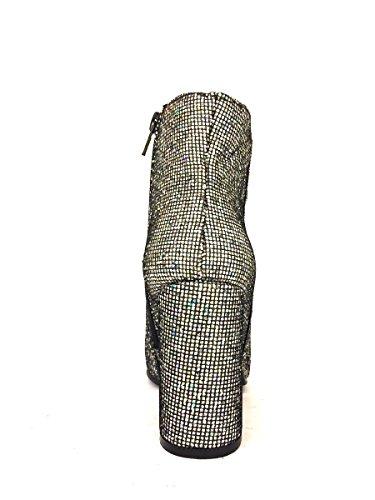 Tronchetti DV1939-44 eleganti tacco strass mosaico Divine Follie MainApps Nero