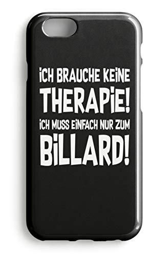 shirt-o-magic Handyhülle Snooker: Therapie? Lieber Billard - Case -iPhone 8-Schwarz