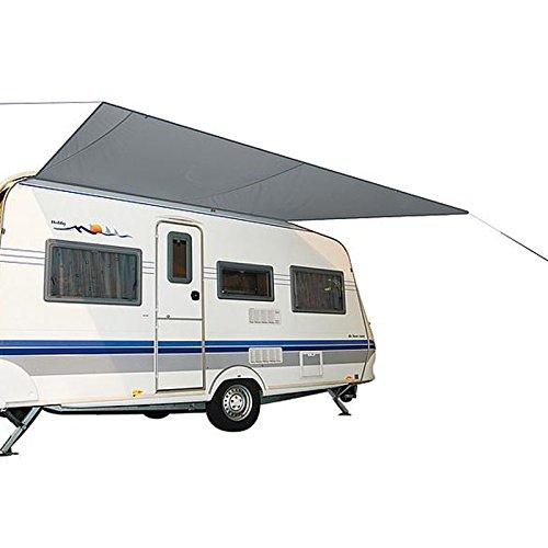 BoCamp Holland Wohnwagenmarkise Travel 350 x 240 cm, Sonnensegel Wohnwagenmarkise Plane mit Sehne für Caravan Schiene Schnelle und leichte Anbringung Plane kann fest am Wohwagendach aufgerollt werden.