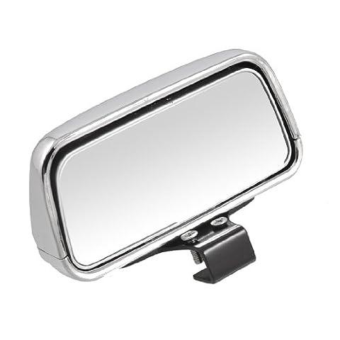 sourcingmap® Anti-vol Ton Argent Coque Réglable Angle Voiture Rétroviseur Miroir D'angle (4 Mm Specchio)
