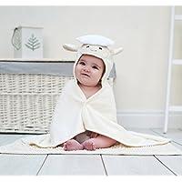 Bathing Bunnies Lamb Baby Towel Cream White