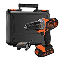 Black+Decker 18V 1.5Ah 10mm Li-Ion Cordless Multi-Evo Multitool Starter Kit with Drill Driver Head for Home, Office & Work DIY Needs, Orange/Black - MT218K-GB, 2 Years Warranty