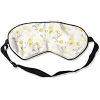 Comfortable Sleep Eyes Masks Yellow Floral Printed Sleeping Mask For Travelling, Night Noon Nap, Mediation Or... preisvergleich bei billige-tabletten.eu