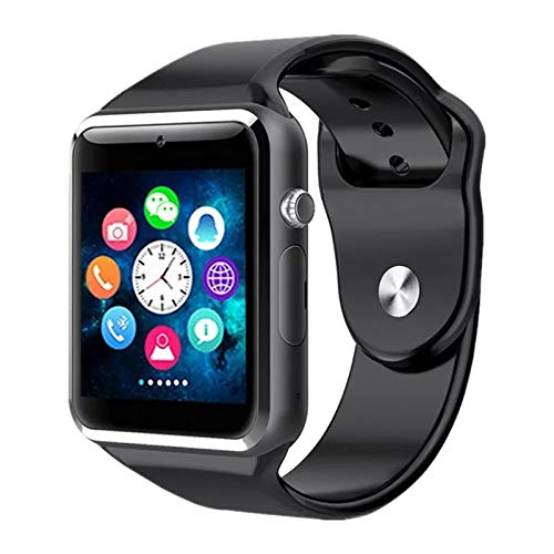 TIRUMI A1 Bluetooth Smart Watch with Camera and Sim Card Support for All 3G & 4G Android/iOS Smartphones (Black)