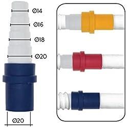 Raccordo adattatore tubo rigido Ø 20 mm passaggio tubo flessibile per scarico condensa