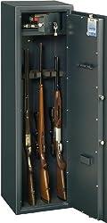 BURG-WÄCHTER Waffenschrank mit abschließbarem Innenfach, Doppelbartschloss, Sicherheitsstufe A, Ranger W 7 A/B S, Schwarz