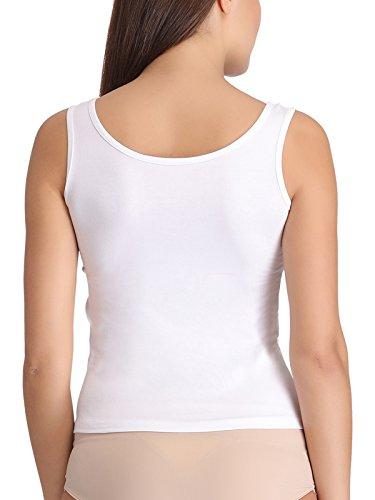 Clovia Damen Unterhemd Weiß