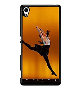Fuson Premium 2D Back Case Cover Dancing girl With White Background Degined For Sony Xperia Z4::Sony Xperia Z4 E6553