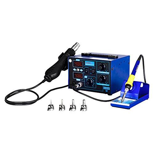 Preisvergleich Produktbild Stamos Soldering - S-LS-17 Basic - Lötstation mit Lötkolben und Heißluftkolben - 730 W