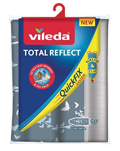 Vileda Total Reflect - Funda de planchar, metálica: refleja el vapor sobre la ropa; para un planchado...